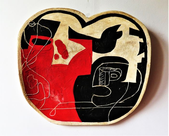 """""""AN""""  Alex Nero - The die is drawn - Tribute to """"Le Corbusier"""""""