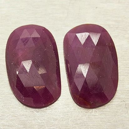 2 pcs  Ruby - 26.30 ct