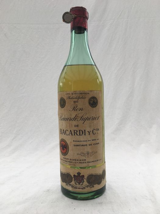 Bacardi - Superior de Bacardi y Cia - b. 1940s - volume not stated, around 70-75cl