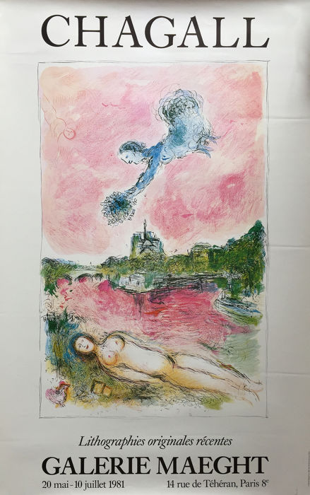 Chagall - Lithographies originales récentes - 1981