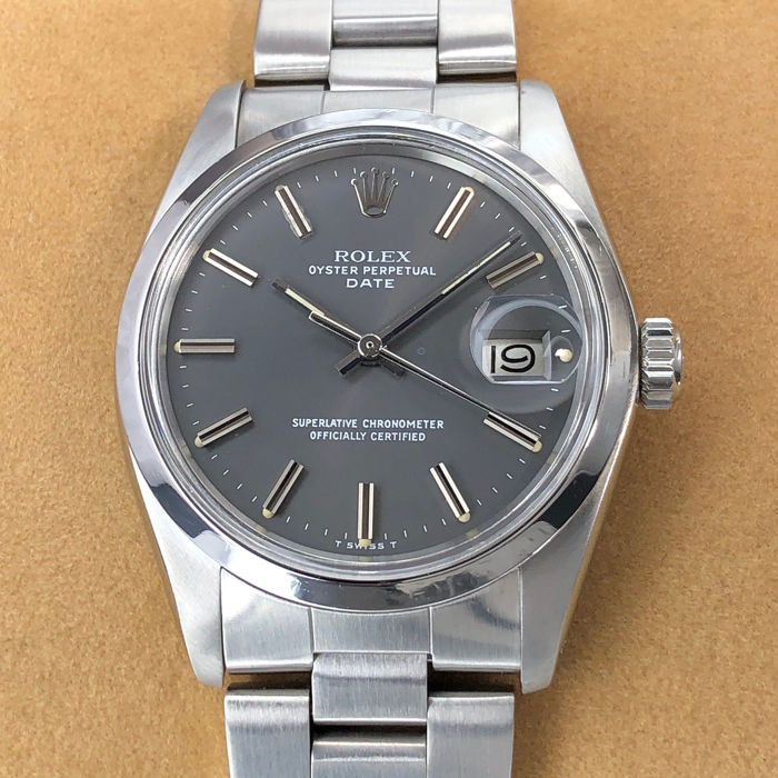 Rolex - Oyster Perpetual Date Grey Dial - 1500 - Unisex - 1970-1979