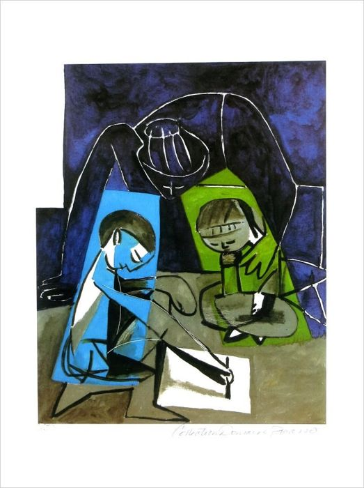 Pablo Picasso ( after ) - Childeren Writing