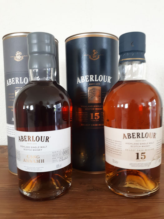 Aberlour 15 years old Select Cask Reserve + Casg Annamh Small Batch - 70cl - 2 flessen