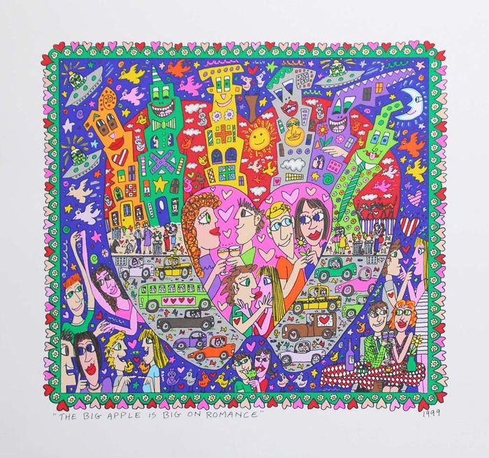 James Rizzi - The Big Apple Is Big On Romance