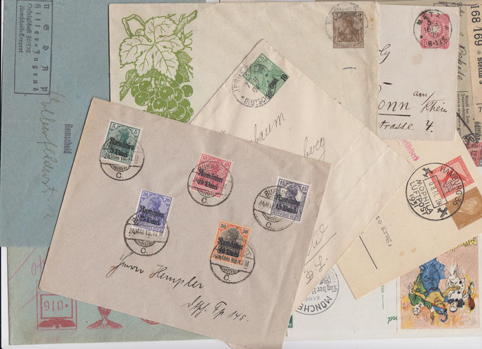 Duitse Rijk 1876/1944 - Dt.Reich + areas lot, commercial covers/propaganda/stationary