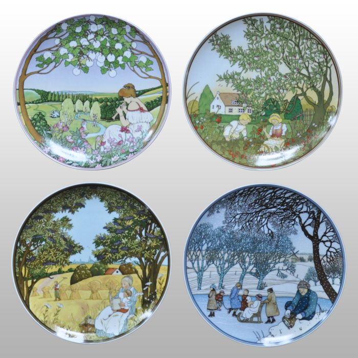 Villeroy & Boch - Wall signs (4) - Porcelain