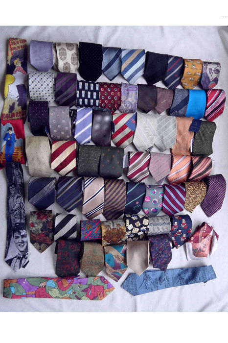 Collection ties-also new-different brands like, Versace, Armani, Boss, (63) - and single Polyester, Silk