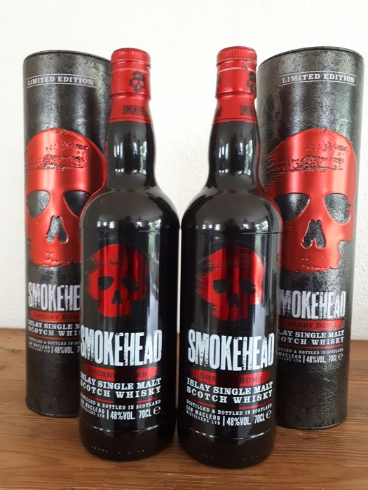 Smokehead Sherry Bomb - Limited Edition - Ian MacLeod - 70 cl - 2 flaschen