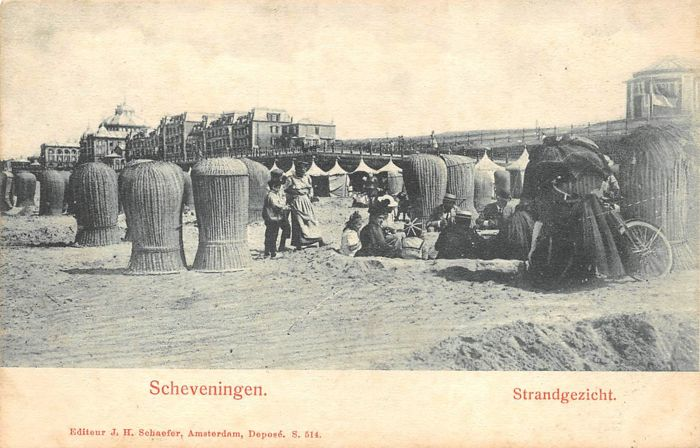 Netherlands - Scheveningen - Old Beach and city views - Postcards (Collection of 182) - 1900