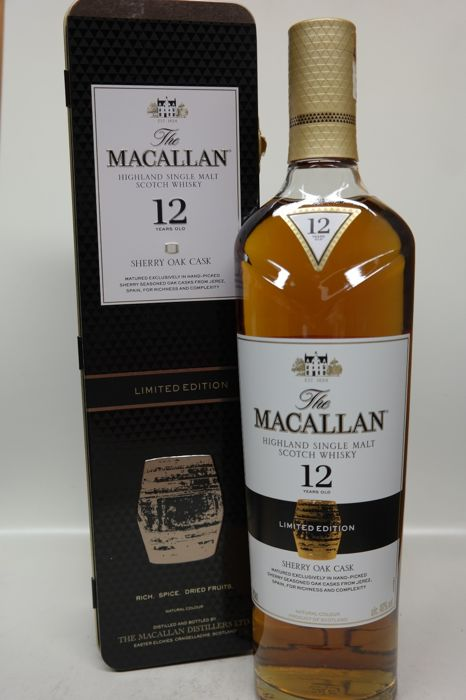 Macallan 12 years old limited edition in tin box - 0,7ltr