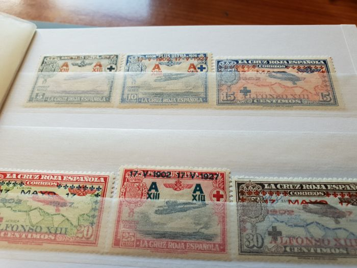 Spanje 1927/1940 - Group of sets of the first and second centennial mounted in stockbook