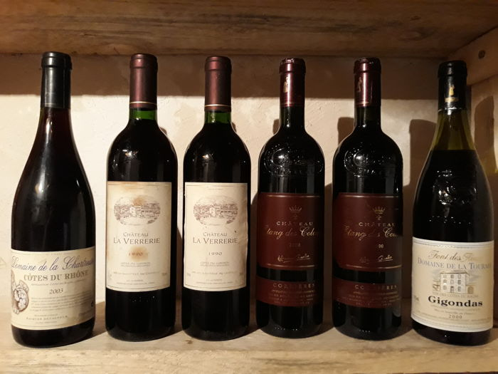 Mixed lot of Rhône valley wines - Gigondas, Luberon, Provence - 6 Bouteilles (0,75 L)