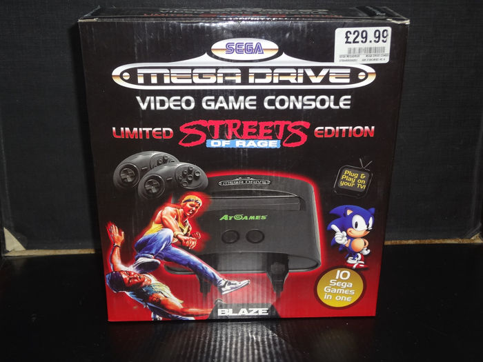 1 Sega 2008 Sega Mega Drive Limited Edition Streets of Rage TC8200-10 Security Protected Tape Unopened - Console - In original sealed box