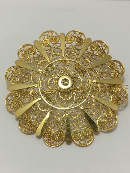 18 carats Or jaune - Broche