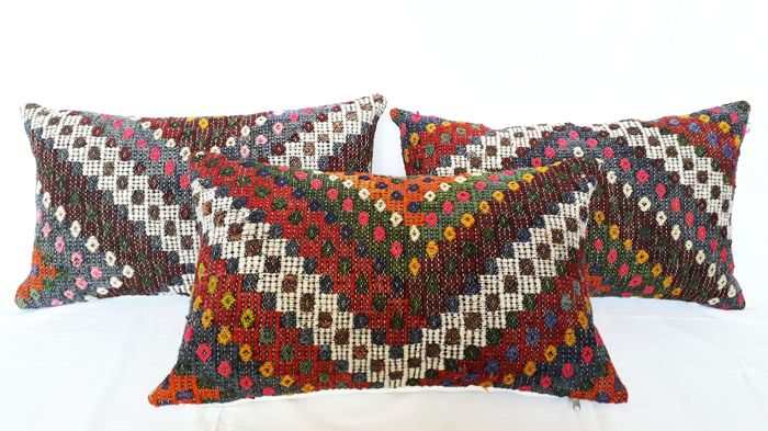 Cushion, Three Usak cushions - 60 x 40 cm (3)