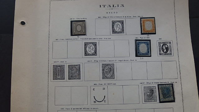 Italy Kingdom - Collection of stamps in album sheets