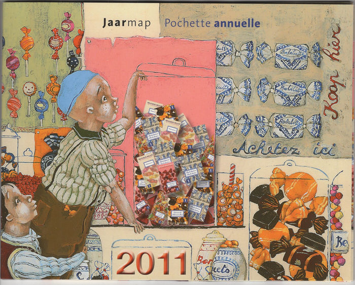 België - Issue from the year 2011 by Bpost - OBP / COB
