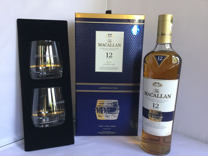 Macallan 12 years old Double Cask - Limited Edition With 2 Glasses - 700ml