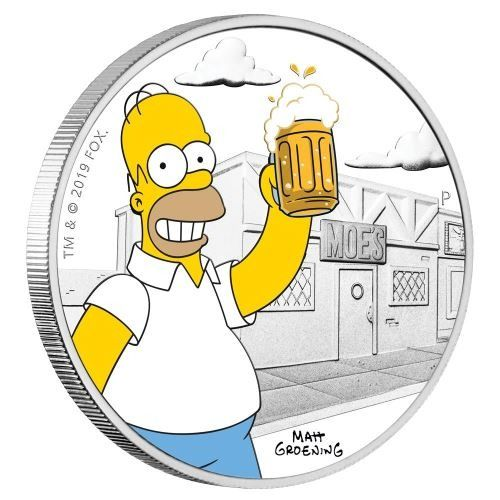 Tuvalu - 1 Dollar 2019 - The Simpsons - Homer Simpson - 1 oz - Silver