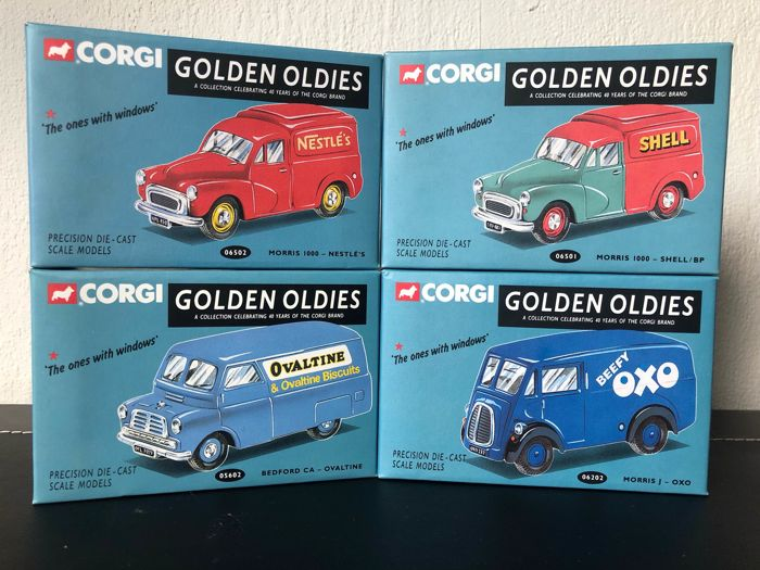 Corgi - 1:43 - Lot with 4 models: Morris and Bedford 4  - Golden Oldies collection