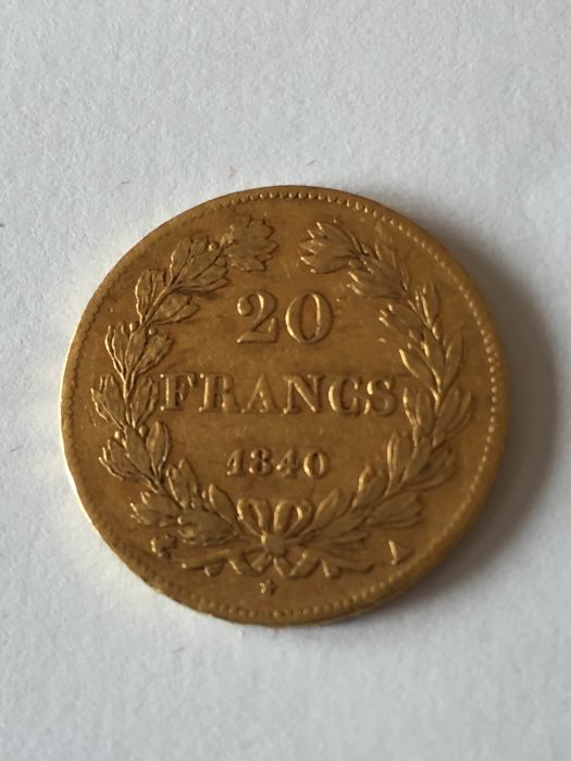20 Francs 1840-A Louis Philippe I - Or