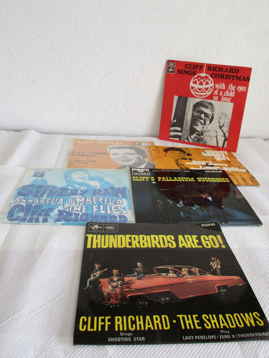 Cliff Richard - including thuderbirds are go !6x - Multiple titles - 45 rpm Single - 1964/1971