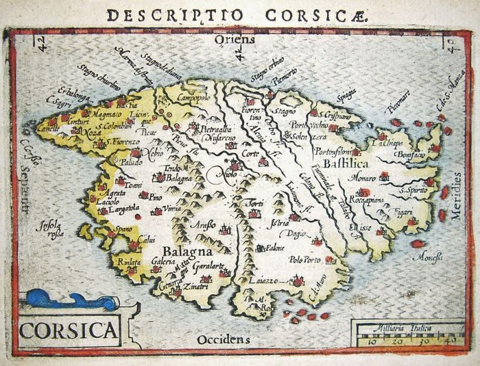 Map Of France 1600.France Corsica Bertius 2 Maps 1581 1600 Catawiki