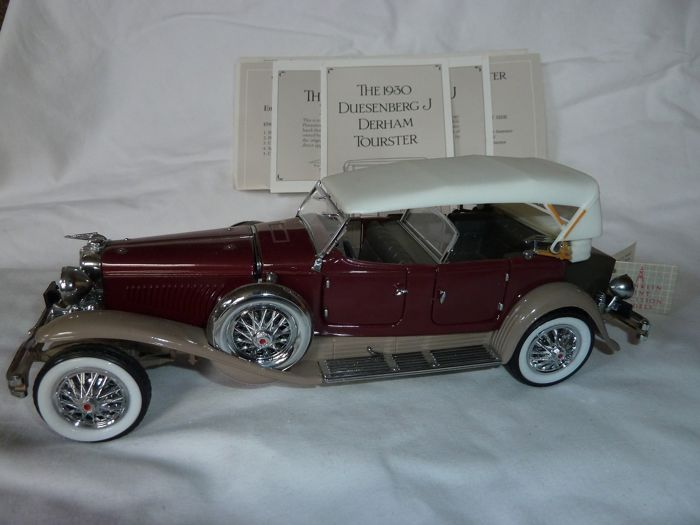 Franklin Mint - Franklin Mint 1930 Duesenberg J Derham Tourster & Paper Work - Metal Curio for sale