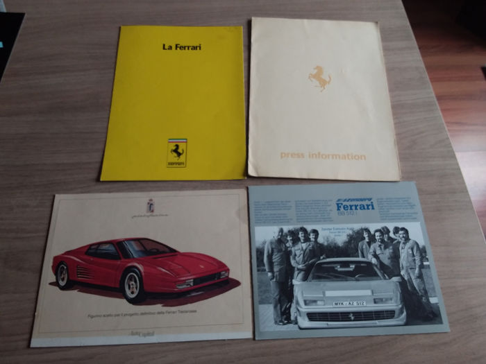 Folletos / Catálogos - Ferrari - BB 512i, Testarossa, Mondial cabriolet press release - 1978-1980