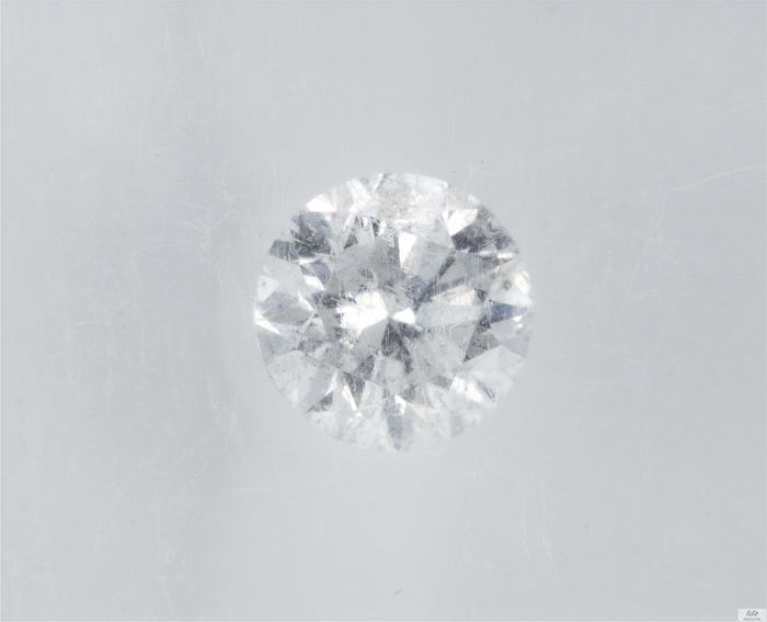 Diamant - 0.49 ct - Brillant - D (farblos) - SI2