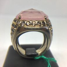 925 Zilver - Ring - 20.27 ct Roze Rookkwarts - Brown Smoky Quartz