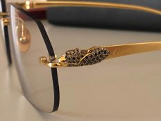 df3d86bbafc28 Cartier - Panther Diamond Custom Sunglasses