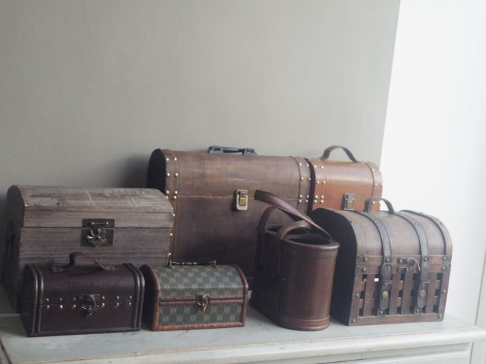 colonial wooden boxes wine cases various designs (7) - Wood