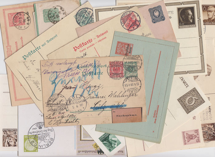 Duitse Rijk 1878/1944 - German Reich - diverse compilation of postal stationery