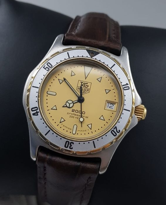 "TAG Heuer - ""NO RESERVE PRICE""  Professional 2000 Gold Dial Two-tone - 974.013 - Unisex - 1990-1999"