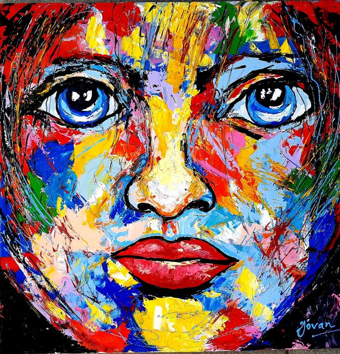 Jovan Srijemac -  Abstract portrait ,Between girl and child