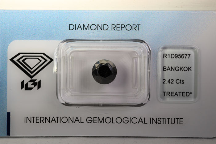 Diamond - 2.42 ct - Brilliant - IGI Certificate - * NO RESERVE PRICE *
