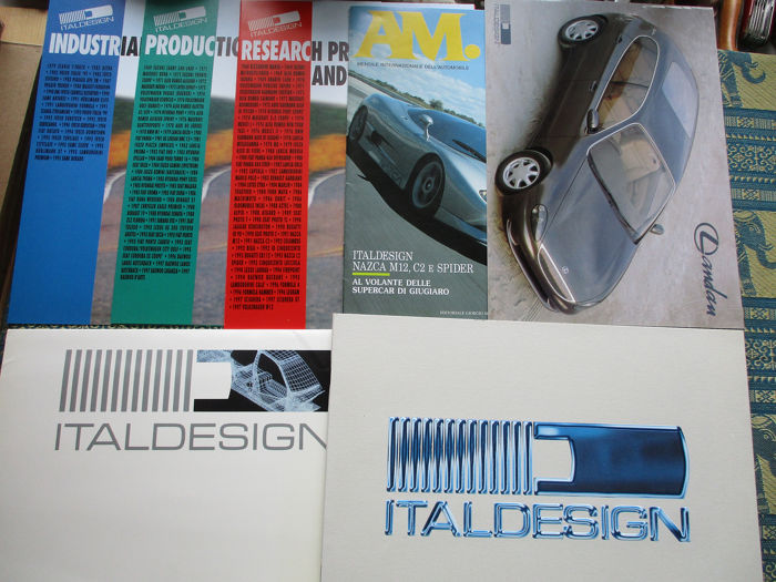 Brochures / Catalogi - Italdesign - Prototypes - 1993-1999