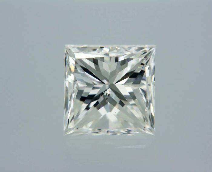 1 pcs Diamant - 0.87 ct - Prinzess - G - SI2