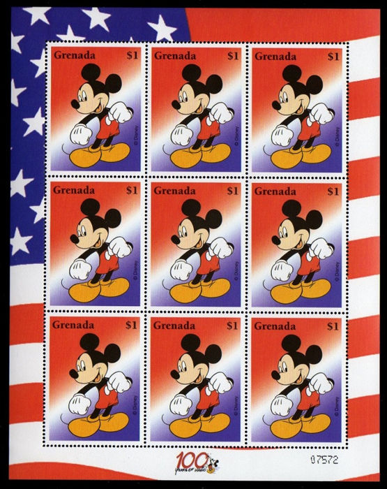 World - Disney collection, stamps and blocks