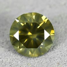 Diamant - 0.50 ct - Brilliant - Si2 - NO RESERVE PRICE - EXC/G/G