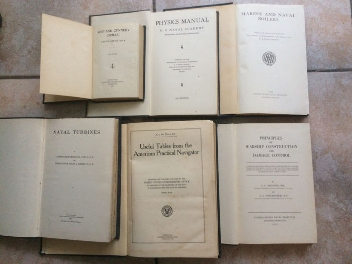 English Military Navy - Lot with 6 books - 1924