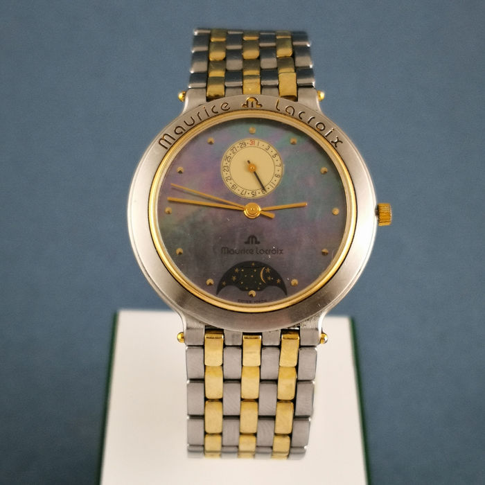 "Maurice Lacroix - Mother-of-Pearl Dial & Moonphase ""NO RESERVE PRICE"" - Ref. 05962 - Unisex - 1980-1989"
