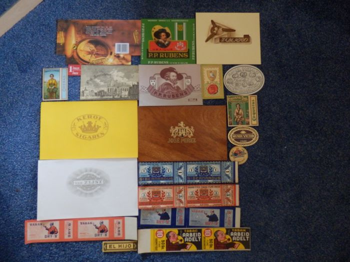 Collection of Cigar Box Labels (100) - Paper
