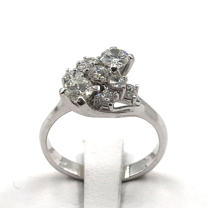 18 karat Hvitt gull - Ring - 1.14 ct Diamant