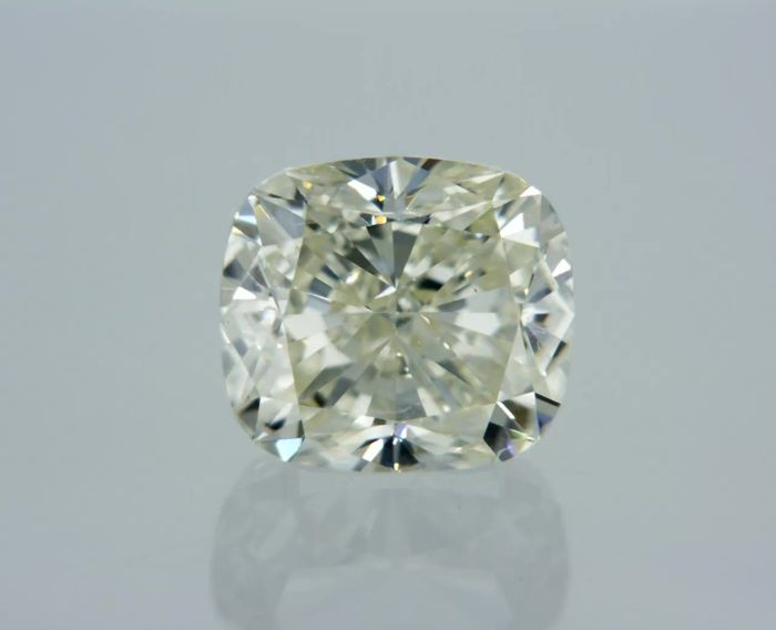 1 pcs Diamante - 0.90 ct - Cuscino - M - SI1