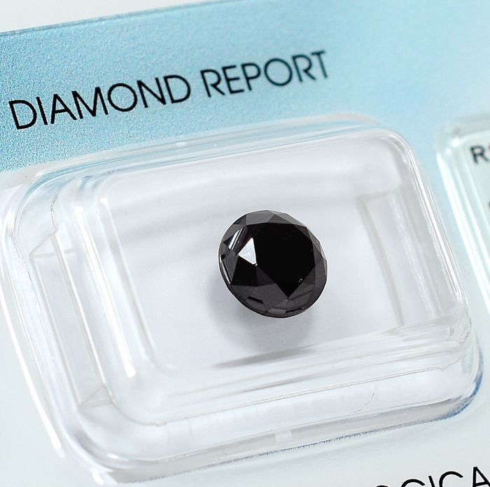 Diamond - 1.69 ct - Brilliant - Black - N/A - NO RESERVE PRICE