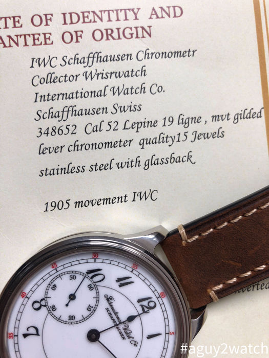IWC - Marriage watch  Caliber 52  - Heren - 1901-1949