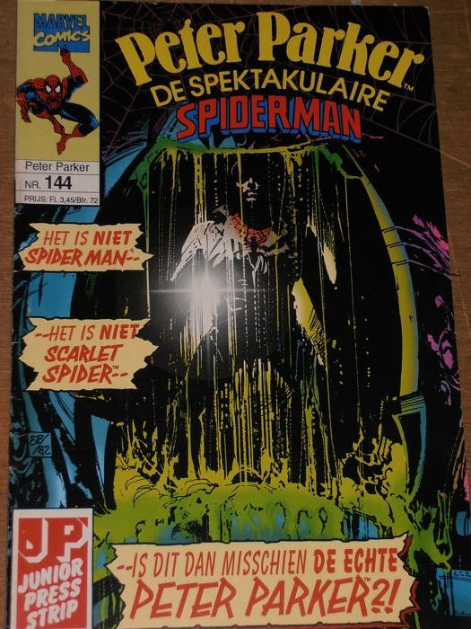 Web van Spider man + Peter Parker - 115 Comics - Uit 2 series - Softcover - First edition - (1982/1995)