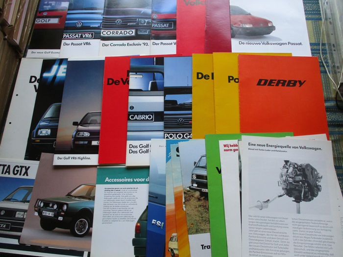 Brochures / Catalogues - Volkswagen - Inclusief G40/VR6/GTX/FSI/Ecomatic/Syncro - 1974-1992